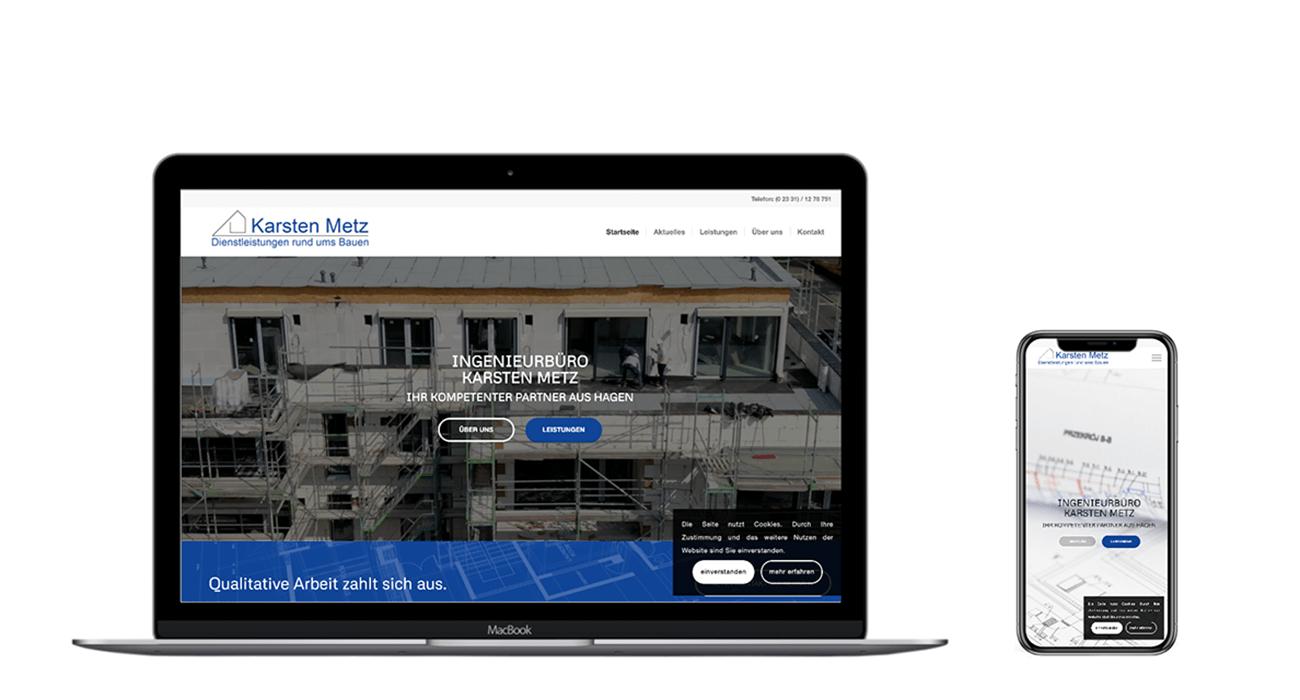Webdesign für Bauingenieure